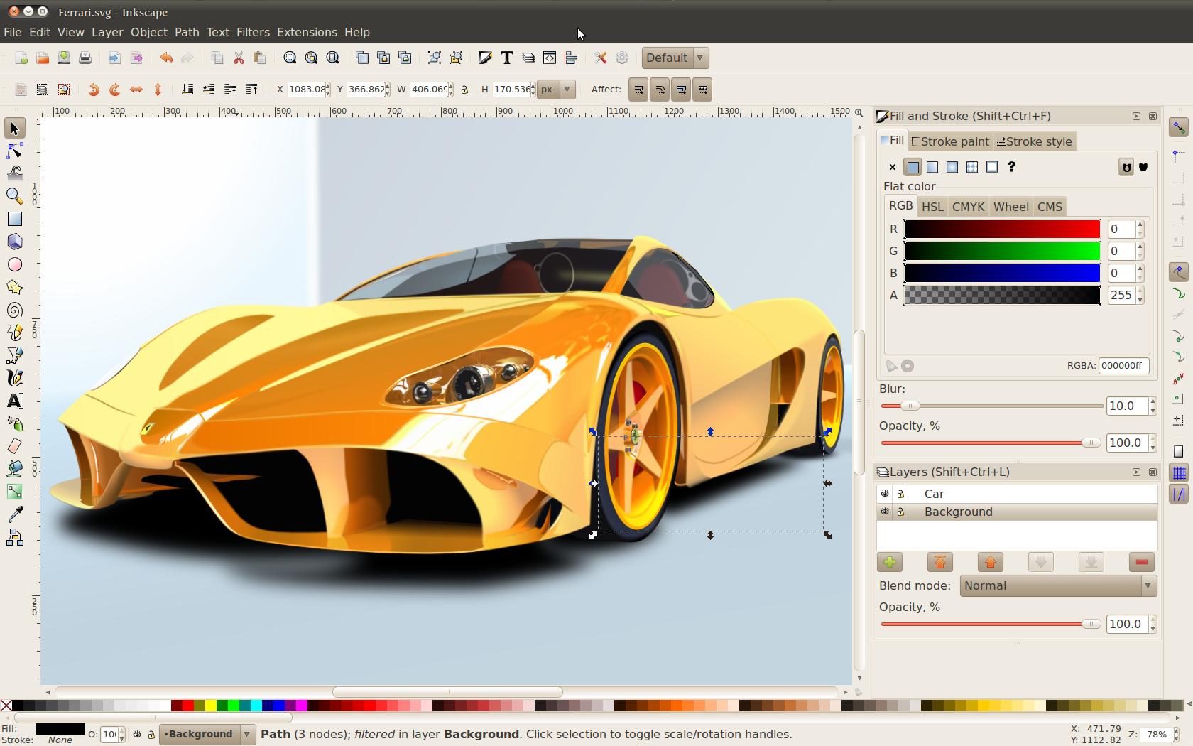 Inkscape を使ってLinuxでもベクターグラフィック